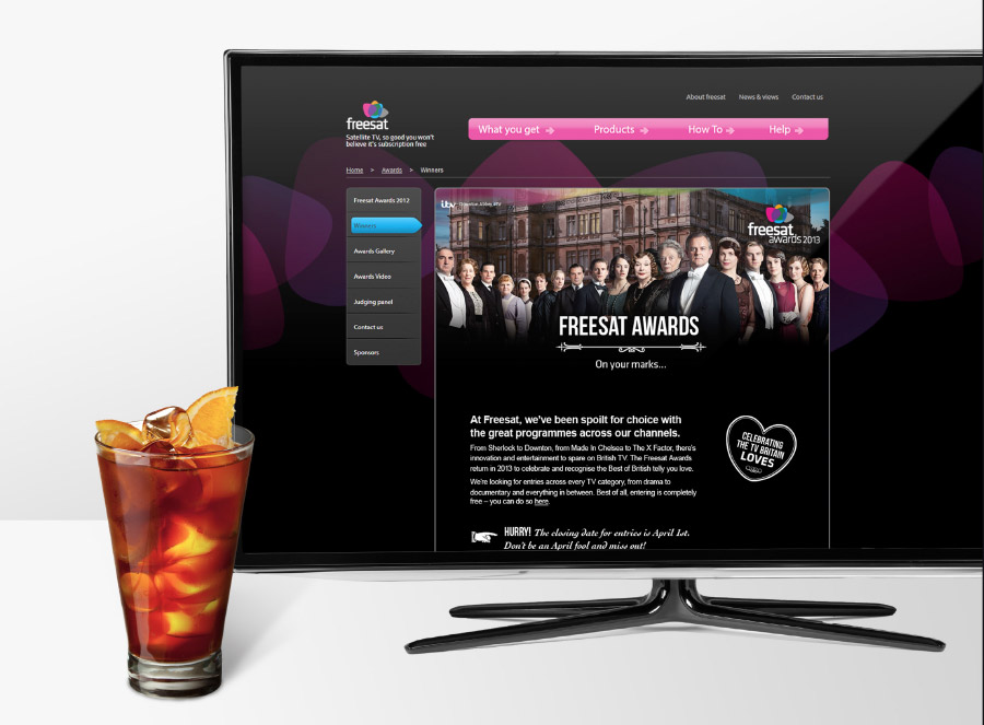 Freesat Awards website design