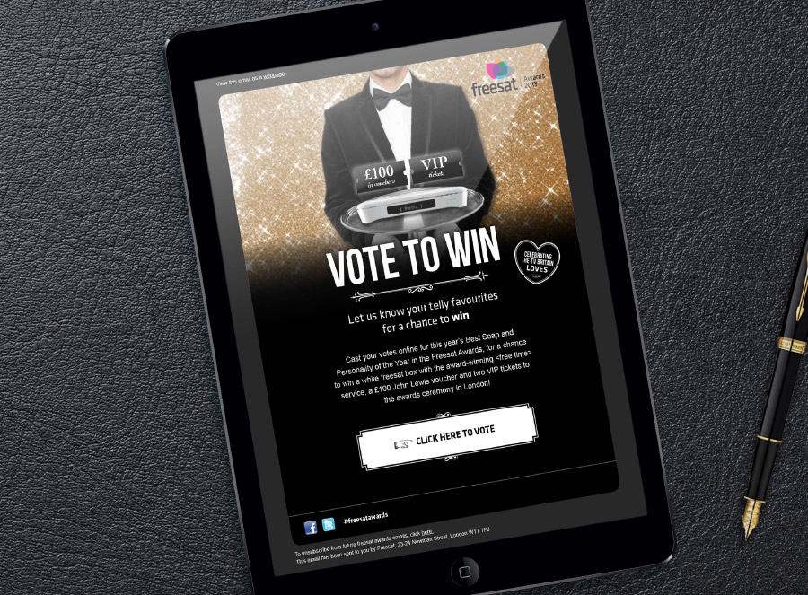 Freesat Awards responsive email design